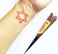 a base di erbe henné coni naturali Kashmir kit di tatuaggio temporaneo mehndi Kaveri (rosso)
