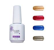 ILuve Gel Nail Polish Set - Pack Of 4 - Long Lasting 3 Weeks Soak Off UV Led Gel Varnish – For Nail Art #4049