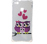 For Huawei Case Shockproof / Pattern Case Back Cover Case Owl Soft TPU Huawei