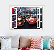 3D Fake Car Window Decoration Wall Stickers