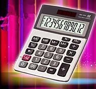 1PC Solar Calculator Office Business Double Power Portable Templet(Style random)