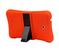 Solid Color Silicone Shockproof Waterproof Case with Stand and PA for Samsung Tab3 P3200 7.0