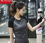 Per donna T-shirt Sport Traspirante / Morbido Grigio S / M / L / XL Yoga / Pilates / Fitness / Corsa-Altro