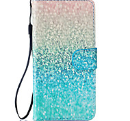 Green Sand Pattern PU Leather Full Body Case with Stand for BQ M 5.0