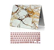 """2 in 1 marmo custodia rigida per tutto il corpo + copertura della tastiera per l'aria del macbook 11 """"pro 13.3"""" /15.4 """""""