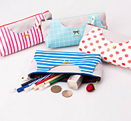 Small Fresh Canvas Vest Bag With Large Capacity Of Individual Creative Students Stationery Pencil Box