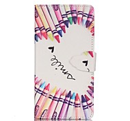 Pencil Love Pattern PU Leather Wallet Phone Case For Samsung Galaxy A3(2016)/A5(2016)