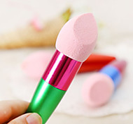 1PCS Dry And Wet Dual Purpose Make Up Sponge Stick Practical Powder Puff(Random Colour)