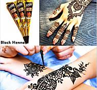 12 colore nero coni all'hennè a base di erbe del tatuaggio temporaneo kit body art inchiostro hina mehandi