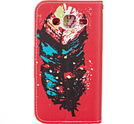 Colourful Feather PU leather with Stand Case for Samsung G360