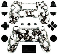 Replacement Controller Case for PS4 Controller (White Skull)