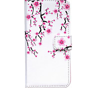 Plum Flower Pattern Embossed PU Leather Case for iPhone 6/ iPhone 6S
