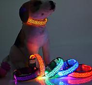 Dog Collar LED Lights Red / White / Green / Blue / Pink / Yellow / Purple / Orange Nylon