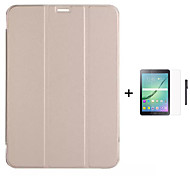 pu livre en cuir debout cas pour 8,4 / onglet s 10.5 / onglet samsung galaxy tab a / onglet 8.0 a + stylet 9.7 + film