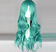 netuno peruca cosplay verde