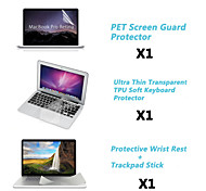"Protective Clear Screen Guard+Thin Keyboard Cover+Metal Rest and Touch Panel Membrane for 13.3""/15.4"" MacBook Pro Retina"