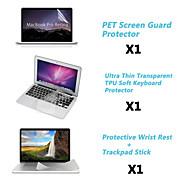 """protección protector claro de la pantalla + cubierta del teclado + delgada resto de metal y membrana de panel táctil de 13.3 """"/15.4"""""""