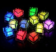24pcs Blue / Red / Green / Pink / Yellow / RGB / White  Ice Cubes LED light Party Wedding Christmas Bar Restaurant