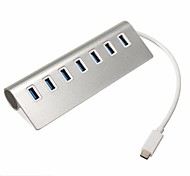 Tipo C usb3.1 a 7 porte USB 3.0 in alluminio hub hub portatile per Apple MacBook Pro Mac Transfer pc portatile fino 5 Gbps