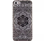 Black Flower Design IMD+TPU Back Cover Case iPhone SE iPhone 5 iPhone 5S