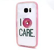 Для Samsung Galaxy S7 Edge Прозрачный Кейс для Задняя крышка Кейс для Слова / выражения PC SamsungS7 edge / S7 / S6 edge plus / S6 edge /