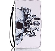 Skull Pattern PU Leather Lanyard phone Case For Samsung Galaxy J5(2016)/J7(2016)
