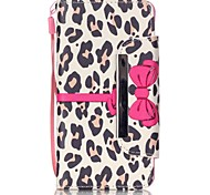 For Samsung Galaxy Case Card Holder / with Stand / Flip / Pattern / Magnetic Case Full Body Case Leopard Print PU Leather Samsung A3(2016)