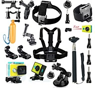 Gopro AccessoriesChest Harness / Front Mounting / Smooth Frame / Monopod / Vented helmet Strap / Waterproof Housing / Accessory Kit /