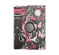 vlinder bloemen voor 10.5 inch tablet t800 pu lederen case cover draaibare scherm samsung galaxy tab s beschermende