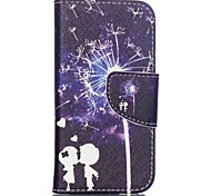 Patterned Leather Wallet Shell Case for iPod Touch 5/6 with Stand - Dandelion