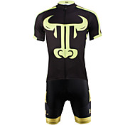 PaladinSport Men 's Cycyling Jersey + Shorts Bike Suits for the for green DT628 The cow