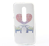 Love Elephant Pattern TPU Soft Case for Motorola Moto G3