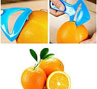 aberto alaranjado multifuncional dispositivo de plástico descascadores de laranja cor aleatória