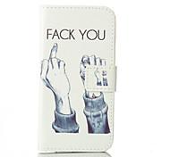 foda-padrão de capa de couro pu com slot para cartão e ficar para iphone 6s 6 plus / iphone mais