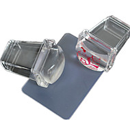 1шт новый прозрачный квадратный силикон ногтей Стампер скребком ногтей лак печати инструменты nd235