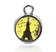 vilam® Cabochon Glas Zeit gem 1cm transparente Perlen mit zufälligen Foto in es 3 Stück