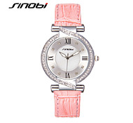SINOBI Women Watch Famous Brand Ladies Fashion Bracelet Quartz Watch Women Lucky Wrist Watches For Women Cool Watches Unique Watches