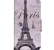 Kreuzmuster-Ledermappe Kastenabdeckung für acer flüssige Jade z - Paris Eiffelturm