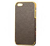 Für iPhone 5 Hülle Beschichtung Hülle Rückseitenabdeckung Hülle Einheitliche Farbe Hart PU - Leder iPhone SE/5s/5