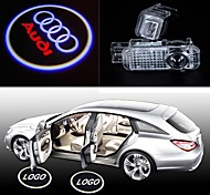 2pcs LED Car Door Shadow Projection Lamp Welcome Light Laser Emblem Logo Lamps for AUDI A1 A3 A4 A5 A6 A6L TT R8