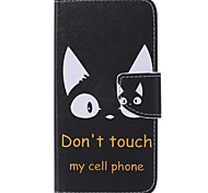 Black Cat  Painted PU Phone Case for Galaxy J5 (2016)/J1(2016)