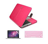 "3 in 1 PU Leather Laptop Case  with Screen Protector and Keyboard Cover for Macbook Macbook Pro 13''/15"" with Retina"
