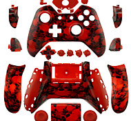Replacement Controller Case for Xbox One Controller (Red Skull Head)
