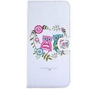 For iPhone 5 Case Rhinestone / Flip Case Full Body Case Owl Hard PU Leather iPhone SE/5s/5