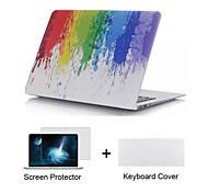 """3 in 1 Ganzkörperkunststoffgehäuse + Displayschutzfolie + tpu Tastaturabdeckung für MacBook Air 11 """"Retina 13"""" / 15 """""""
