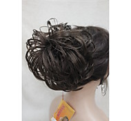 "Brown Dome Wiglet Drawstring Ponytail 6"" Bun Cover Hair Pieces E-KELLI 6"