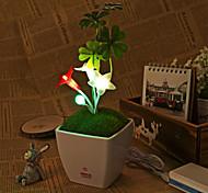 usb dc5v führte Fünf-Winkel führte Blume Nachtlicht Touch Dimm dimmbare Lampe