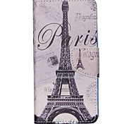 For Acer Case Card Holder / with Stand / Flip / Pattern Case Full Body Case Eiffel Tower Hard PU Leather for Acer