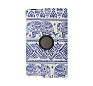 porcelana azul y blanca de cuero de la PU para el caso de Samsung galaxy tab 8.4 s para la cubierta elegante del caso de Samsung t700
