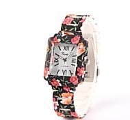 Women's Ladies Fashion Printing Square Ceramic Watches Quartz Watch Ceramic Band Cool Watches Unique Watches Strap Watch